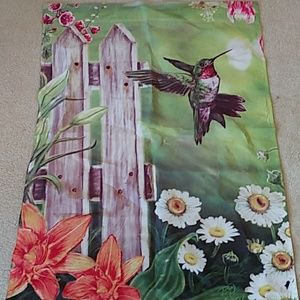 Hummingbird Spring Season Outdoor Flag Banner